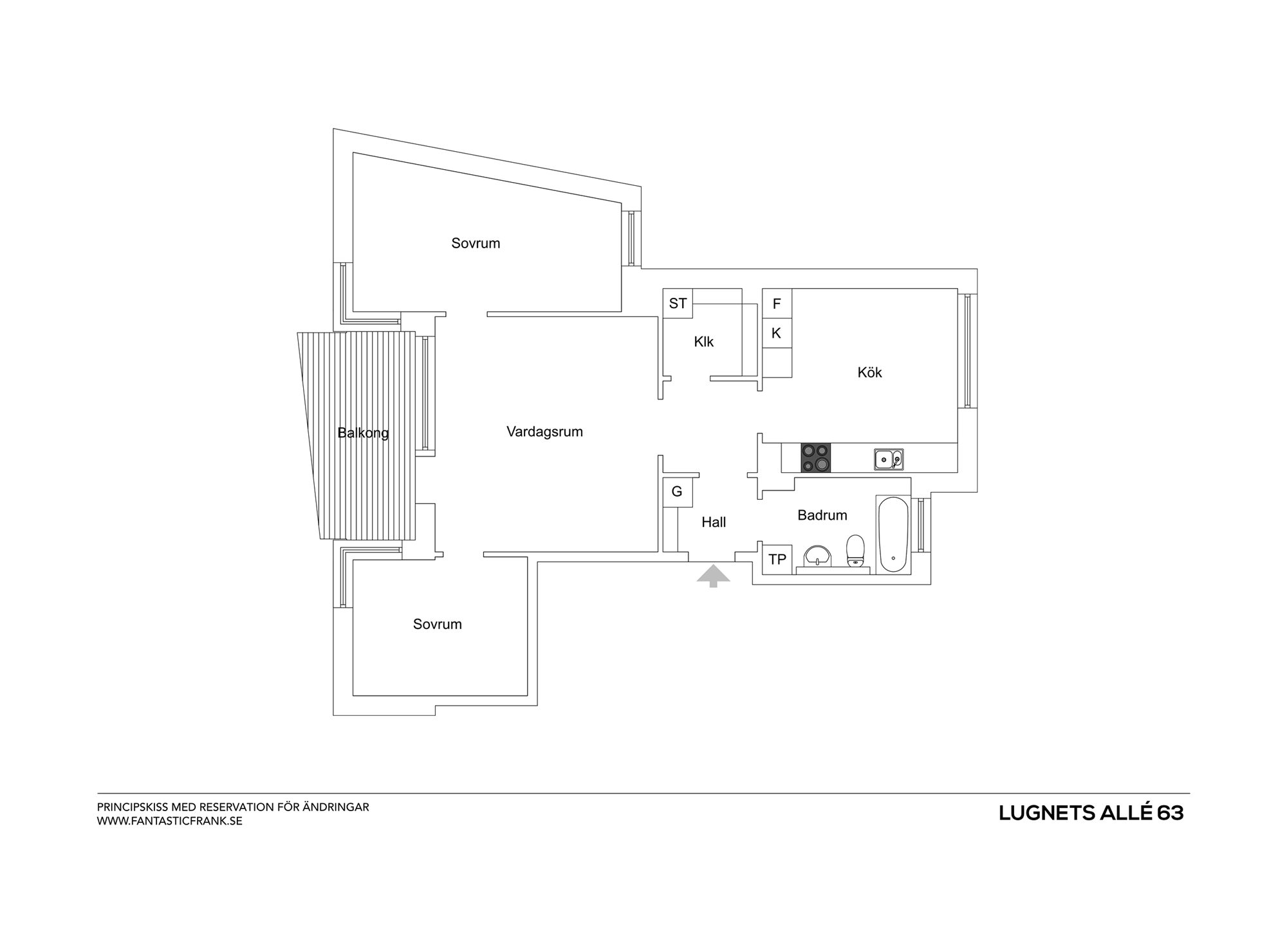 Plan intérieur appartement
