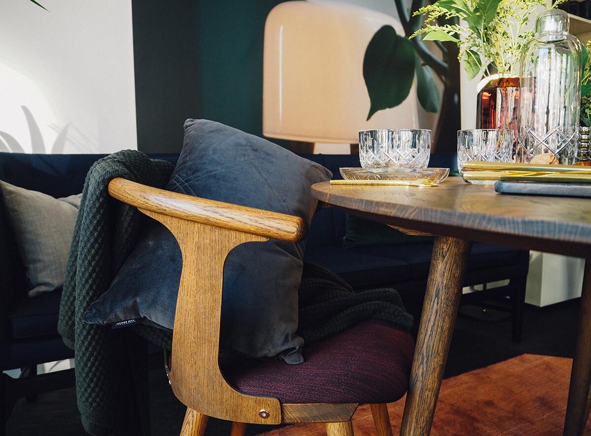 Chaise en bois scandinave