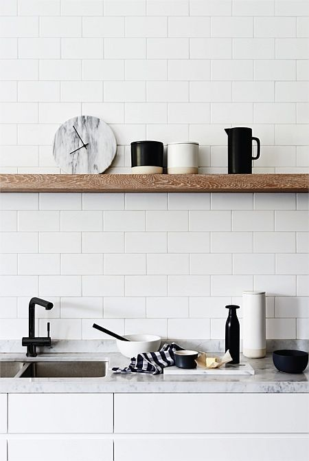 Plan de travail en marbre cuisine