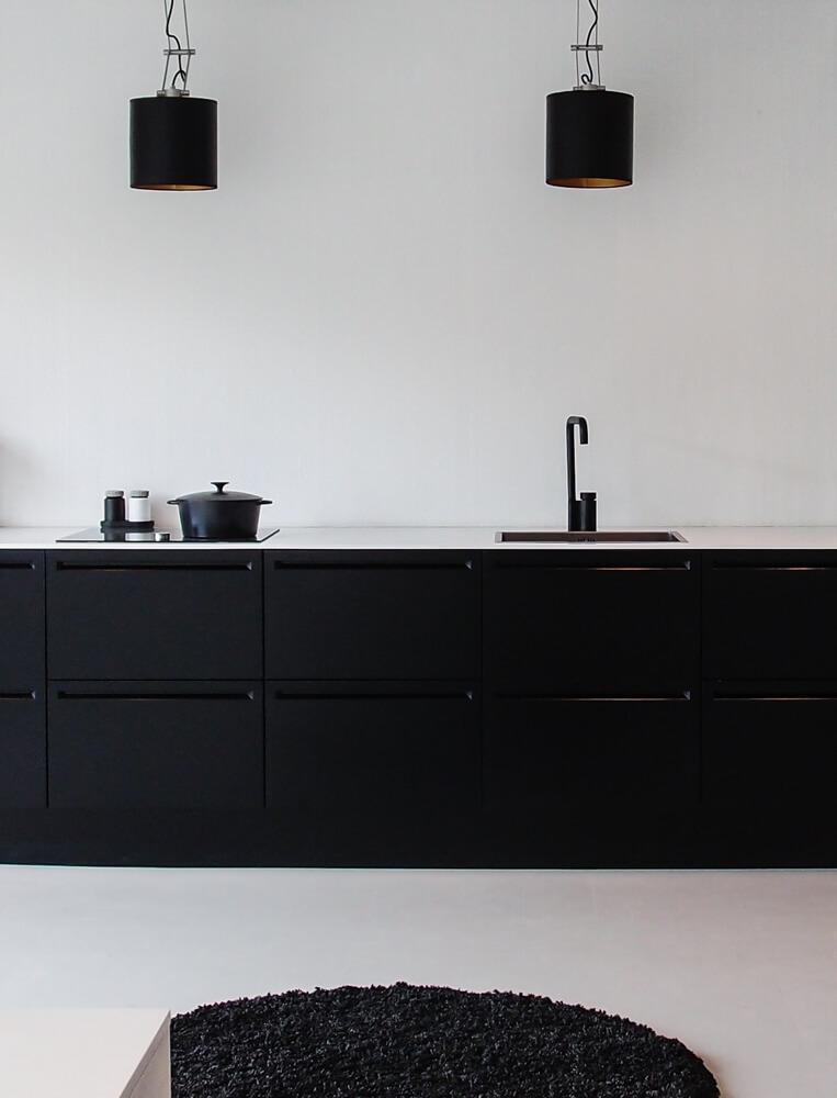 Cuisine moderne noire decoration cuisine blanche et noir for Cuisine moderne noir