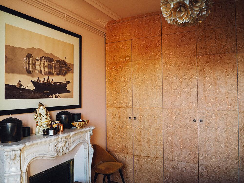 Cheminée appartement parisien