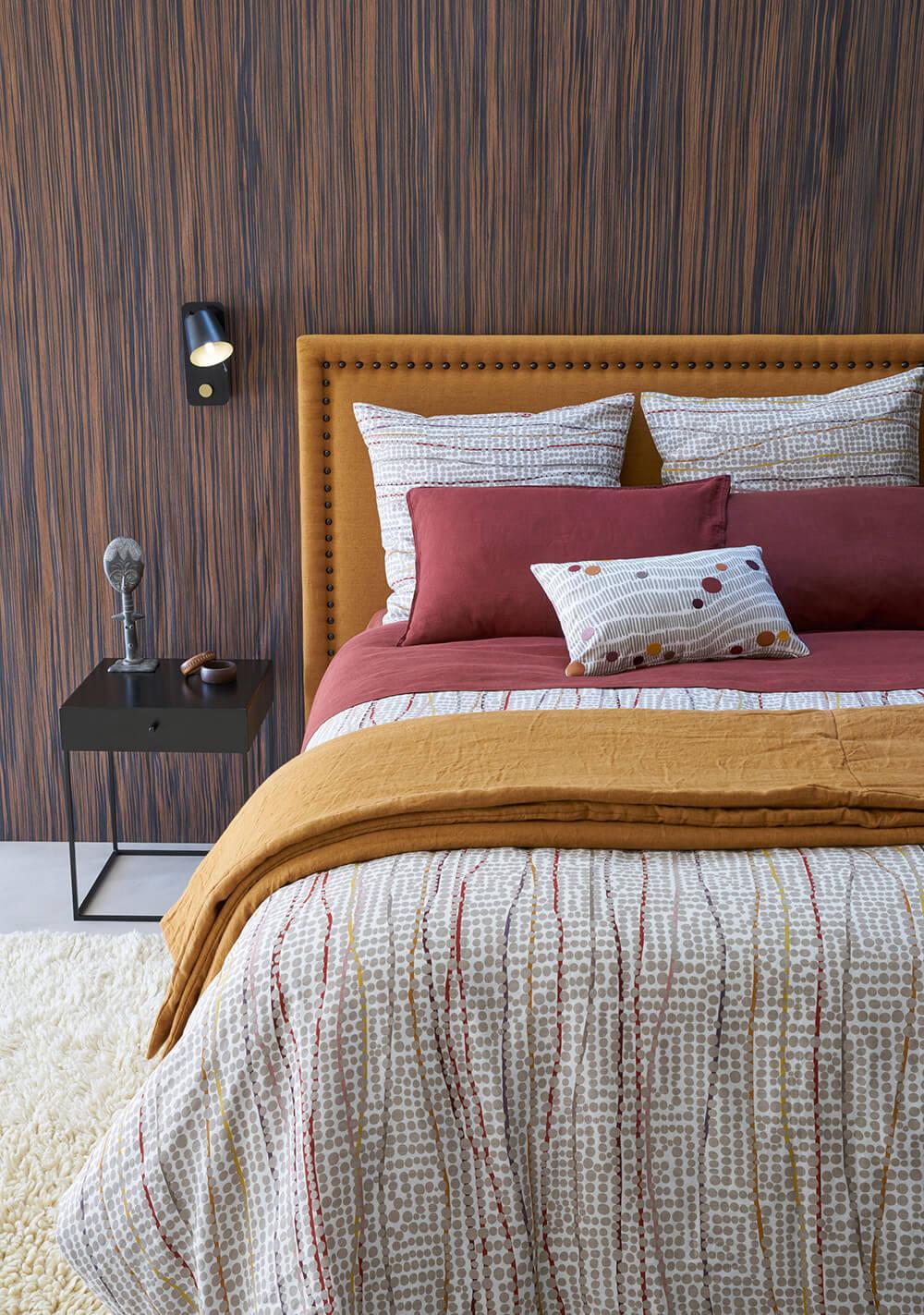 Tête de lit en lin