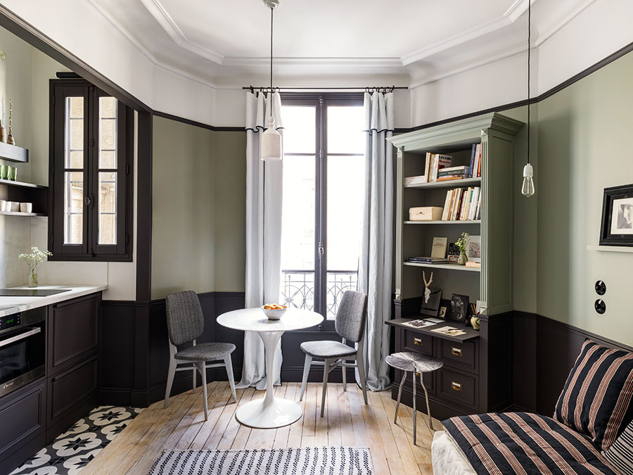 un petit appartement parisien tr s chaleureux frenchy fancy. Black Bedroom Furniture Sets. Home Design Ideas
