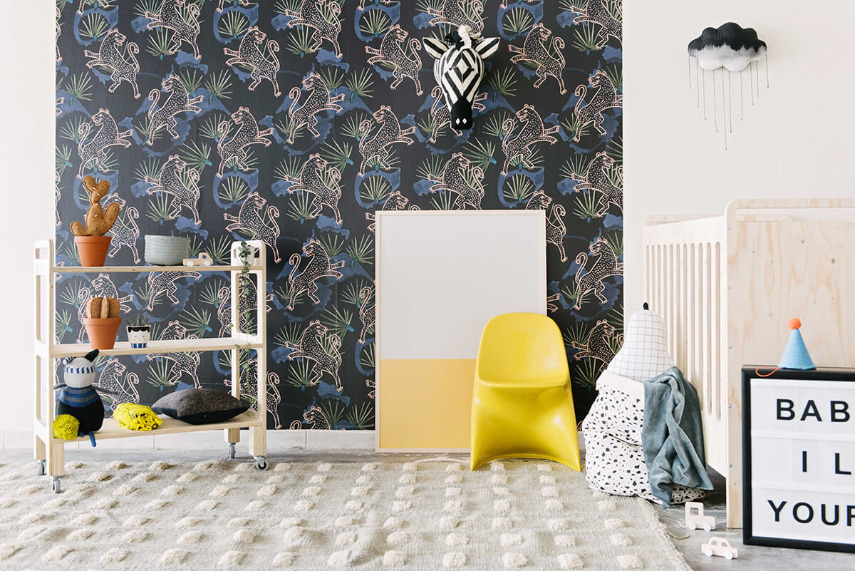 Beautiful une chambre duenfant esprit jungle with chambre for Decoration chambre zoo
