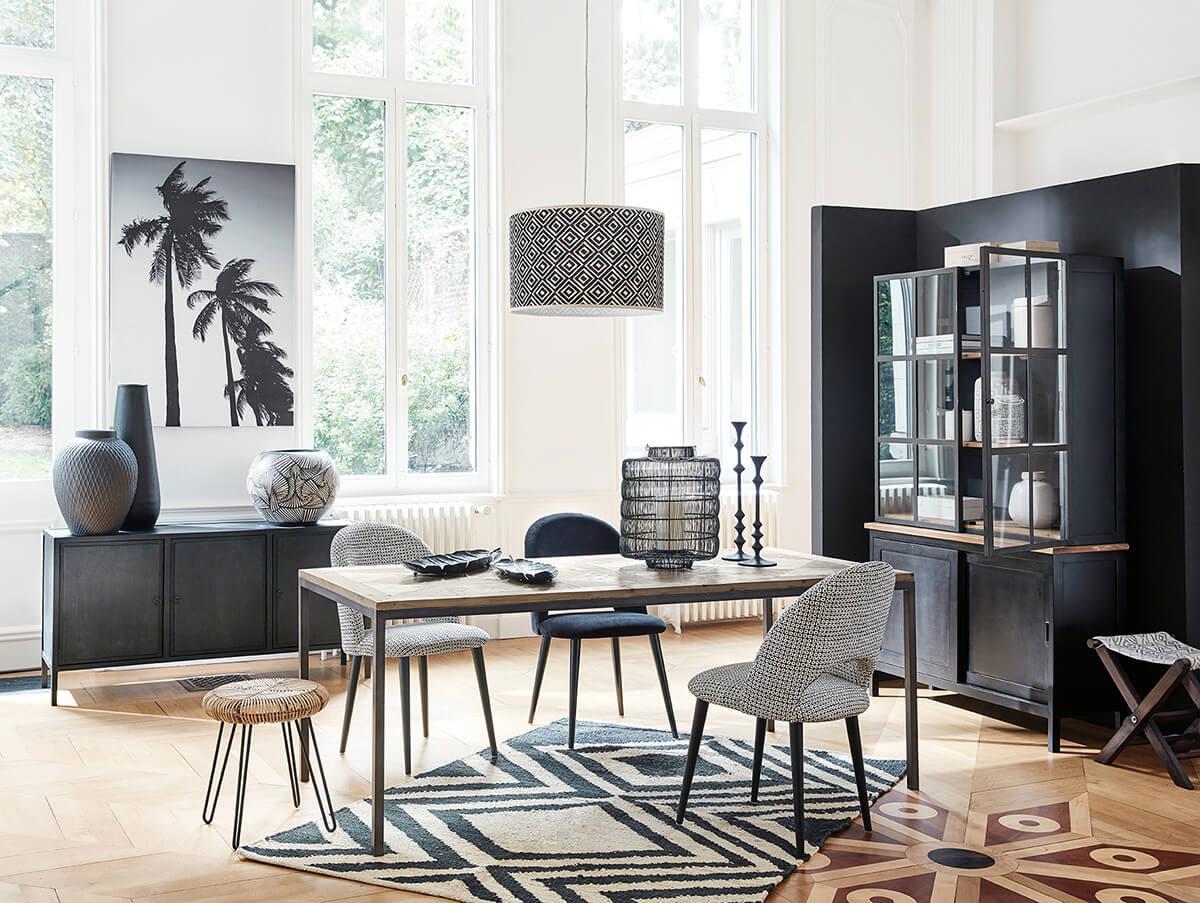 Shopping pour une d co black white frenchy fancy - Inspiration deco salon ...