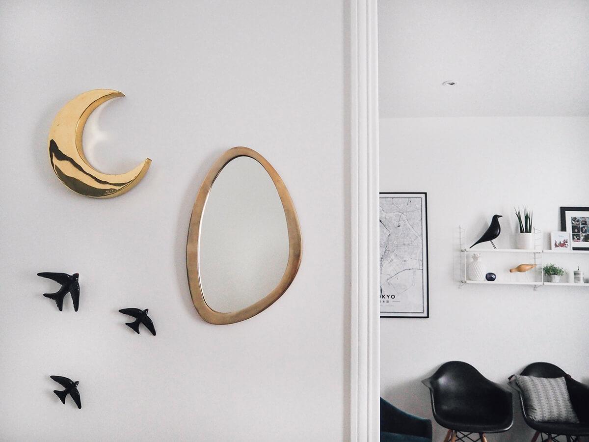 Lune dorée Les petits bohème et miroir La redoute intérieurs