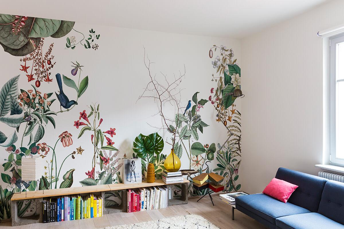 bahamas le nouveau papier peint floral sign bien fait. Black Bedroom Furniture Sets. Home Design Ideas