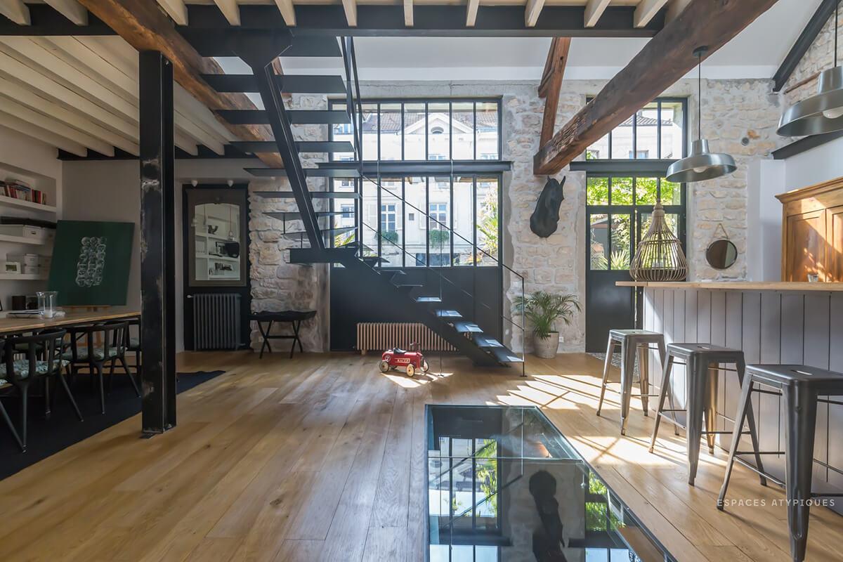 Espaces atypiques frenchy fancy for Loft maison