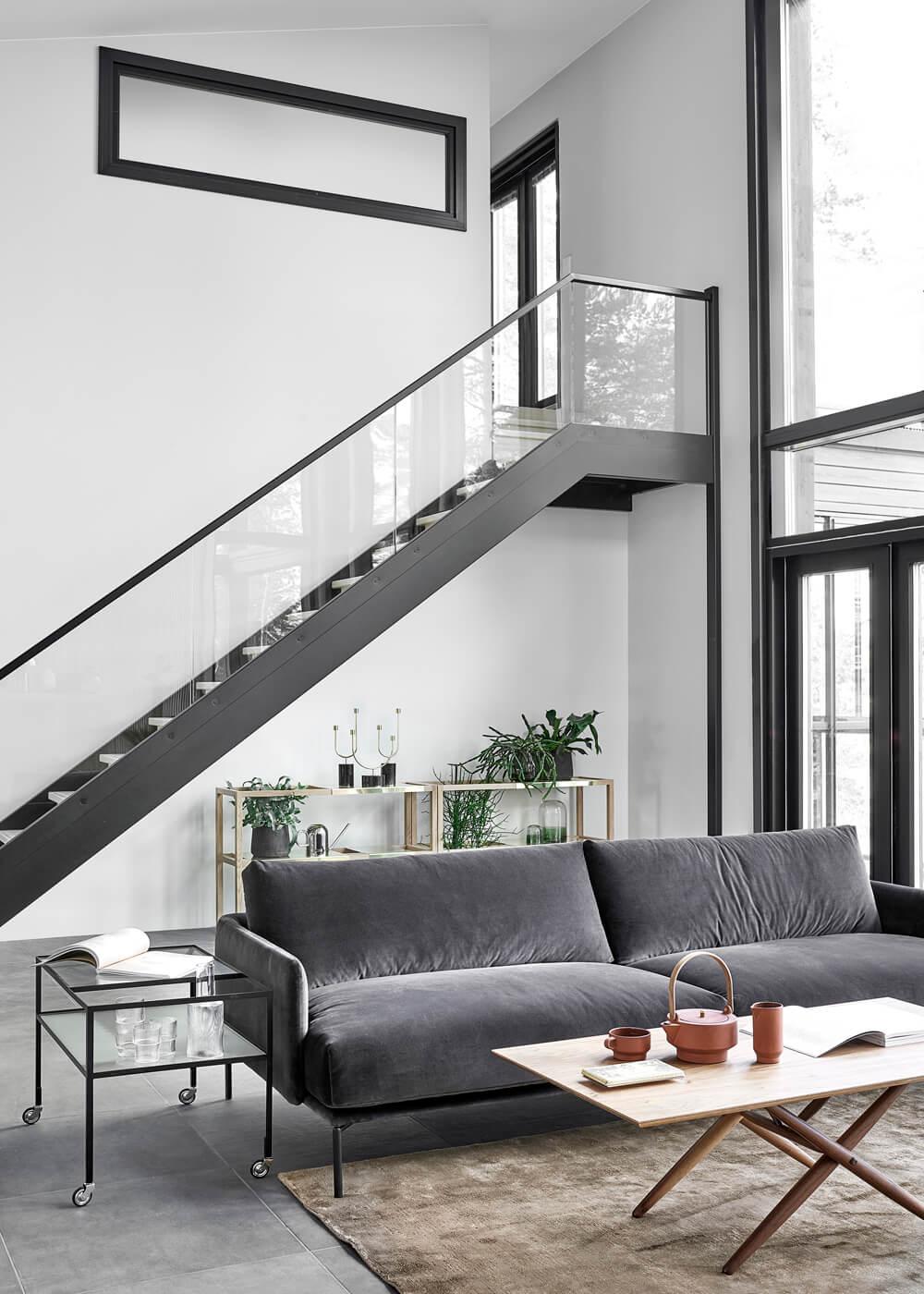 Escalier acier architecture contemporaine