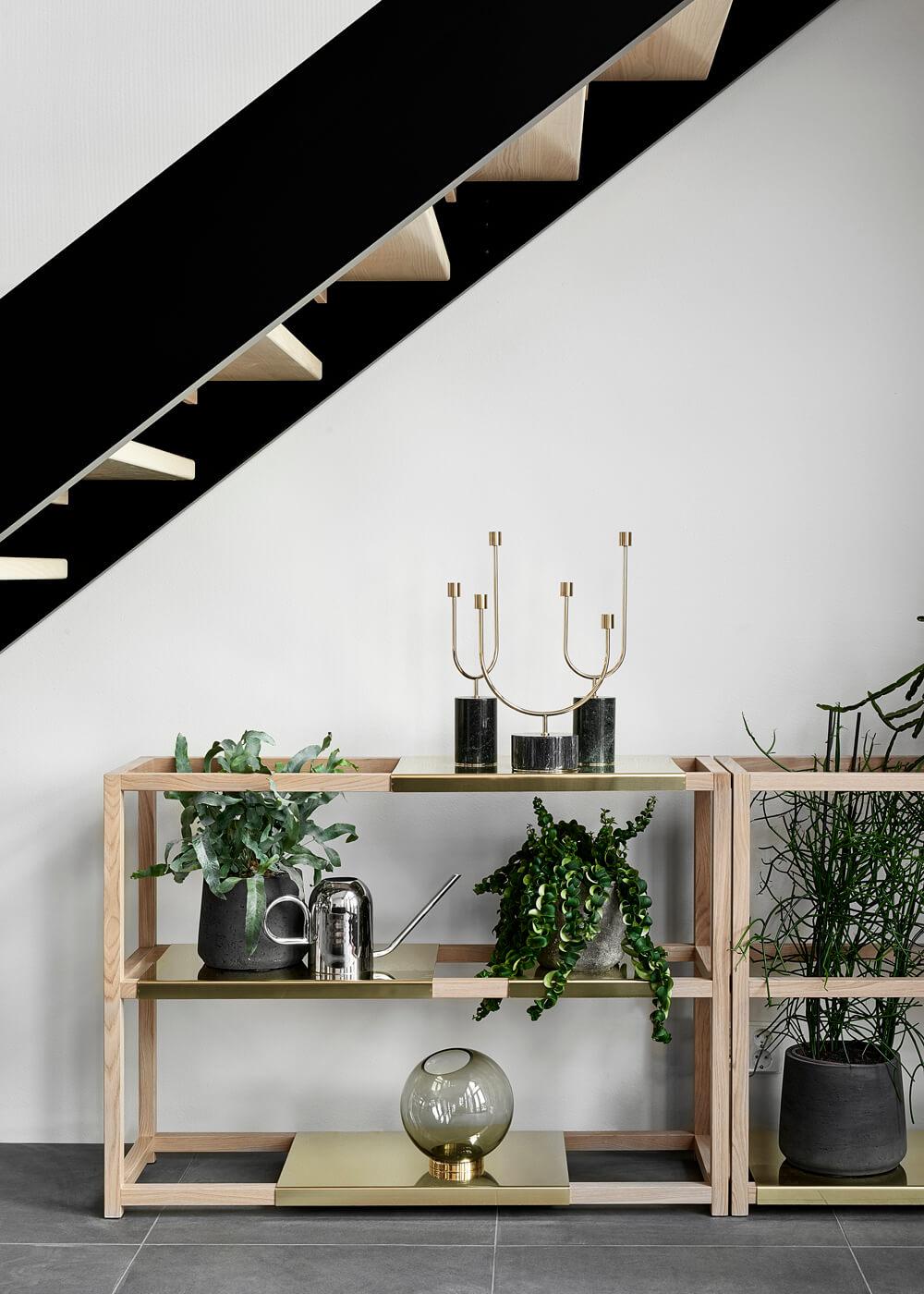 Escalier moderne acier et bois
