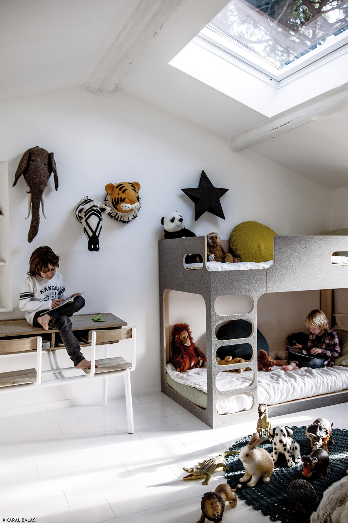 Comment am nager une chambre quand on a deux enfants frenchy fancy - Deco leisteen muur ...