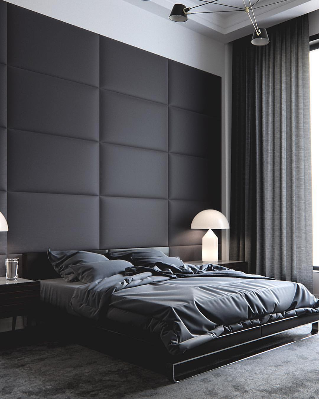 Wooden Bedroom Accessories Bedroom With Black Furniture Ideas Bedroom Design Ideas Hdb Normal Bedroom Ceiling Designs: 10 Chambres Inspirantes Aux Tonalités Masculines
