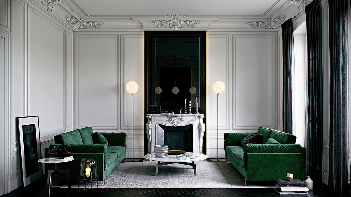 Vert meraude frenchy fancy for Canape velours vert