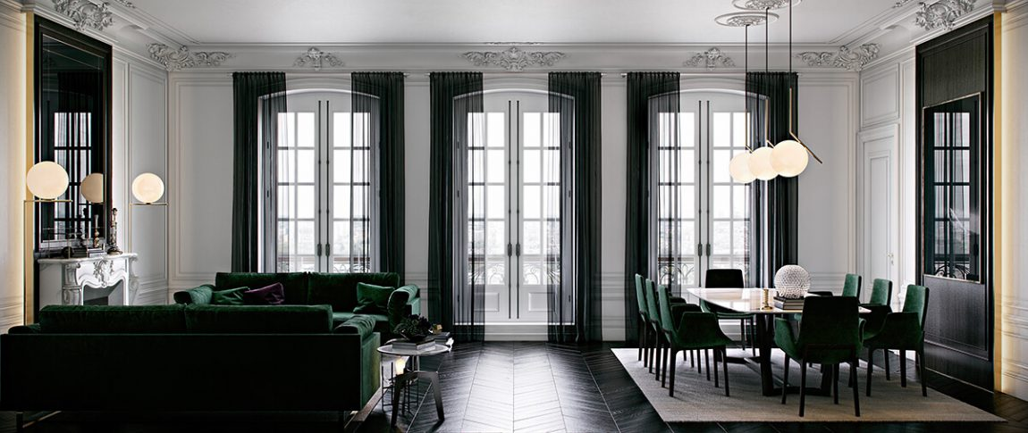 Style haussmannien frenchy fancy for Moulure interieur