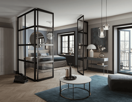une cuisine en noir bois frenchy fancy. Black Bedroom Furniture Sets. Home Design Ideas