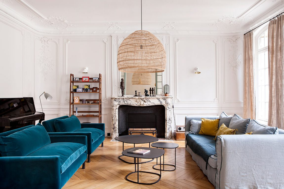 Style haussmannien frenchy fancy for Couleur appartement moderne