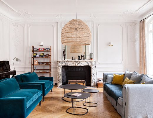 Un appartement Haussmannien haut en couleurs - FrecnhyFancy