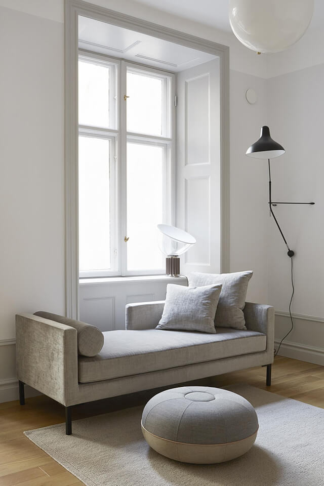 Lampe potence appartement scandinave
