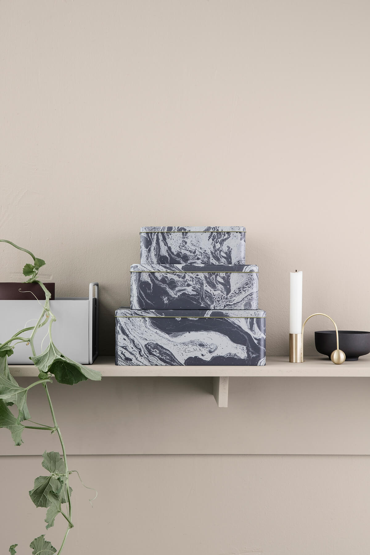 Boite de rangement effet marbre