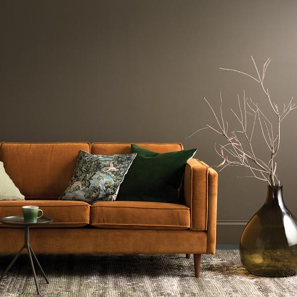Canapé en velours Terracotta