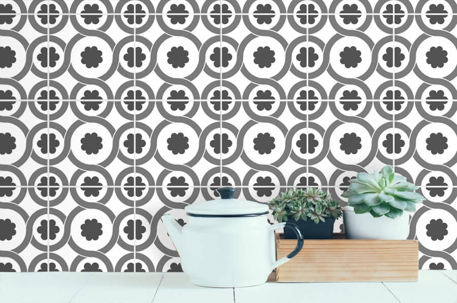 credences decoratives audella style carreaux ciment mosaique amenagement cuisine frenchyfancy 1. Black Bedroom Furniture Sets. Home Design Ideas