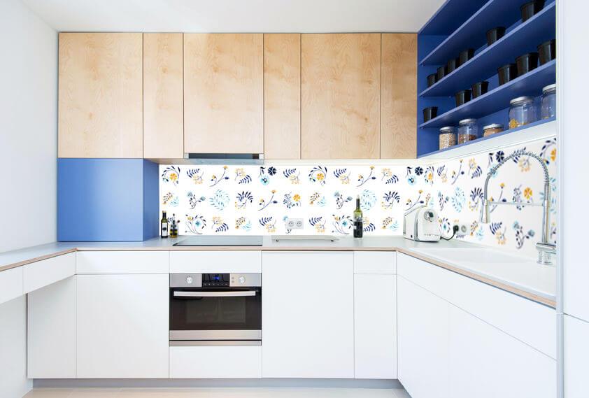 credences decoratives audella style carreaux ciment mosaique amenagement cuisine frenchyfancy 2. Black Bedroom Furniture Sets. Home Design Ideas