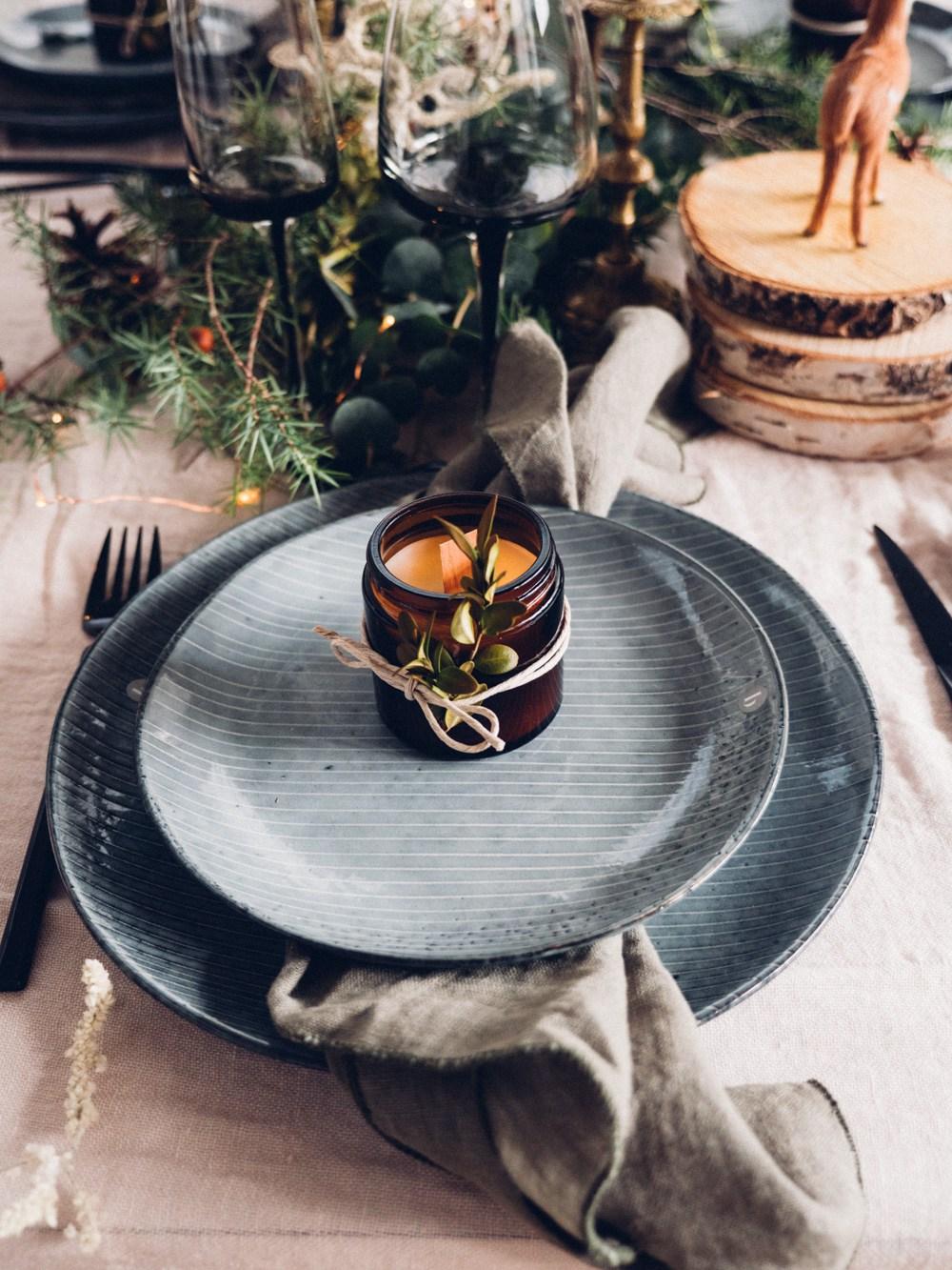 Table de Noel végétale