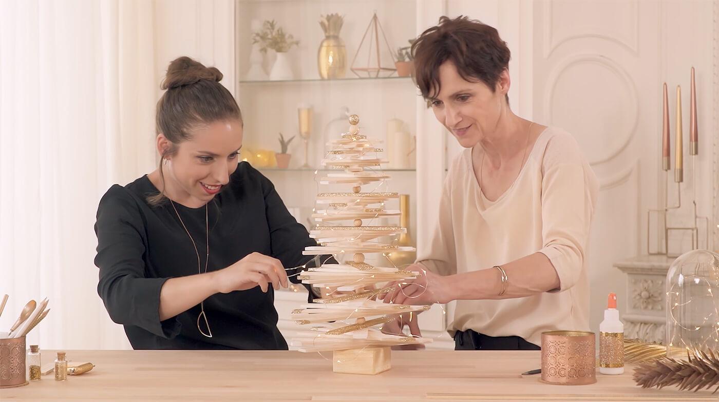 DIY de Noël : le mini sapin pailleté