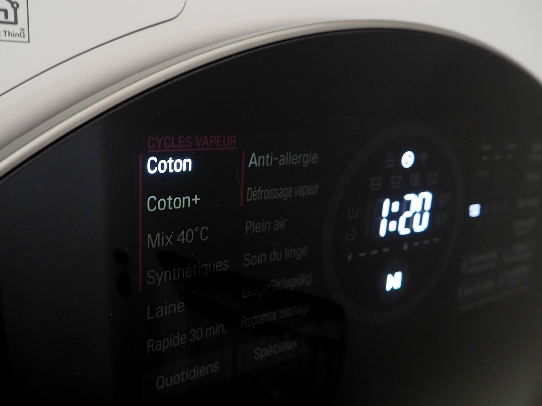 Machine à laver écran tactile