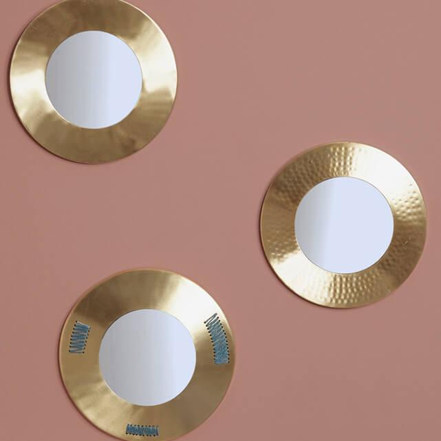 Accessoires deco cosy boheme scandinave miroir vase soldes for Miroir soldes