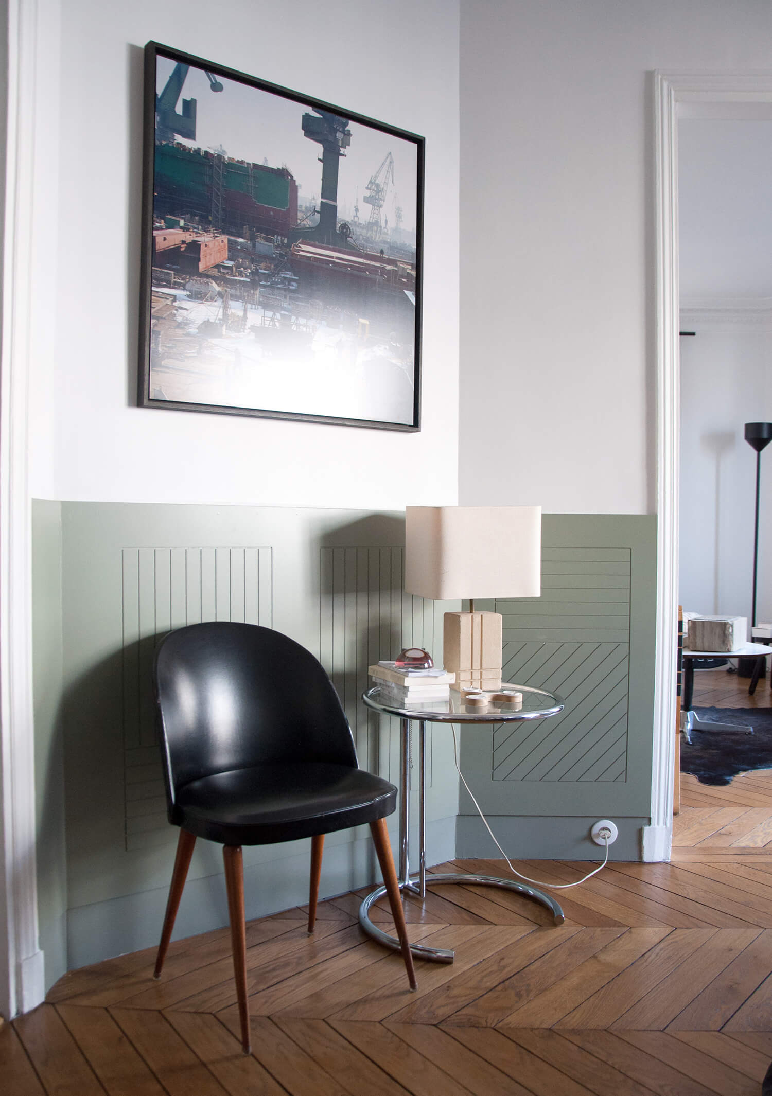 Parquet chevron appartement parisien