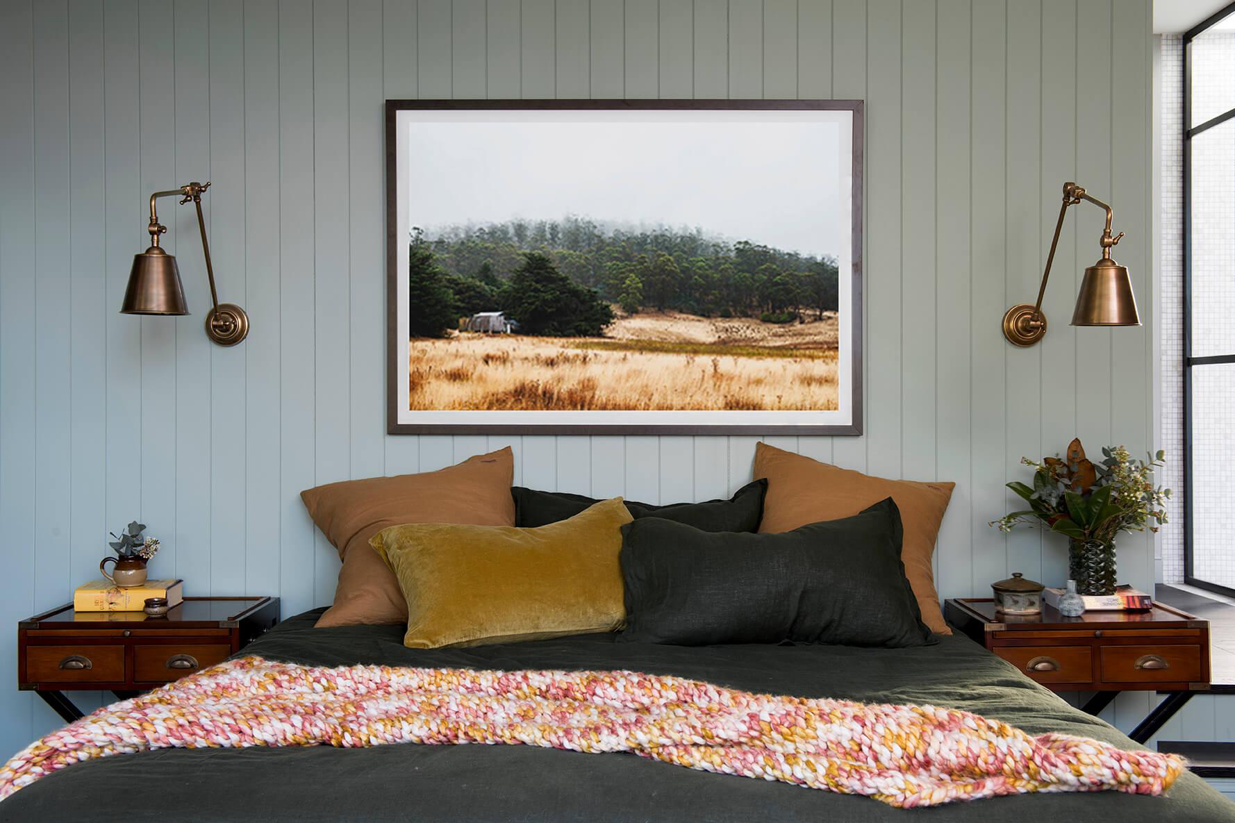 Une chambre verte pour une ambiance cosy frenchy fancy - Chambre cocooning pour une ambiance cosy ...