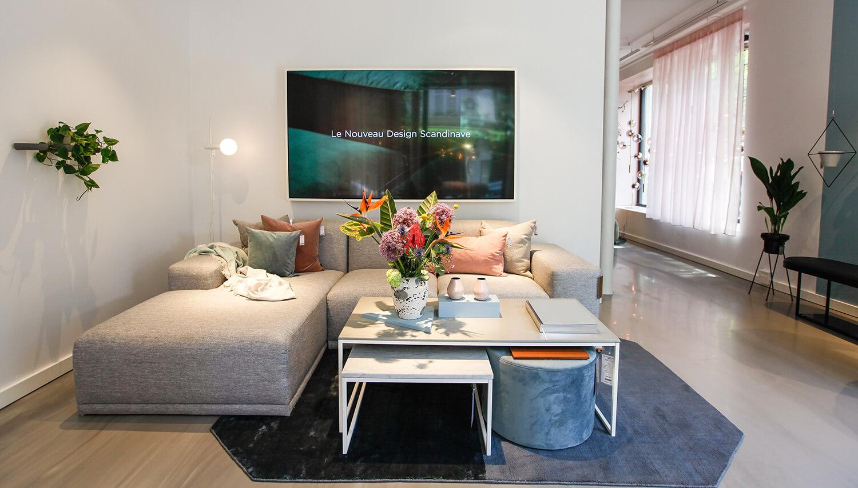 Canapé d'angle style scandinave