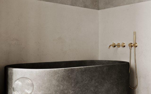 Une salle de bain minérale - FrenchyFancy
