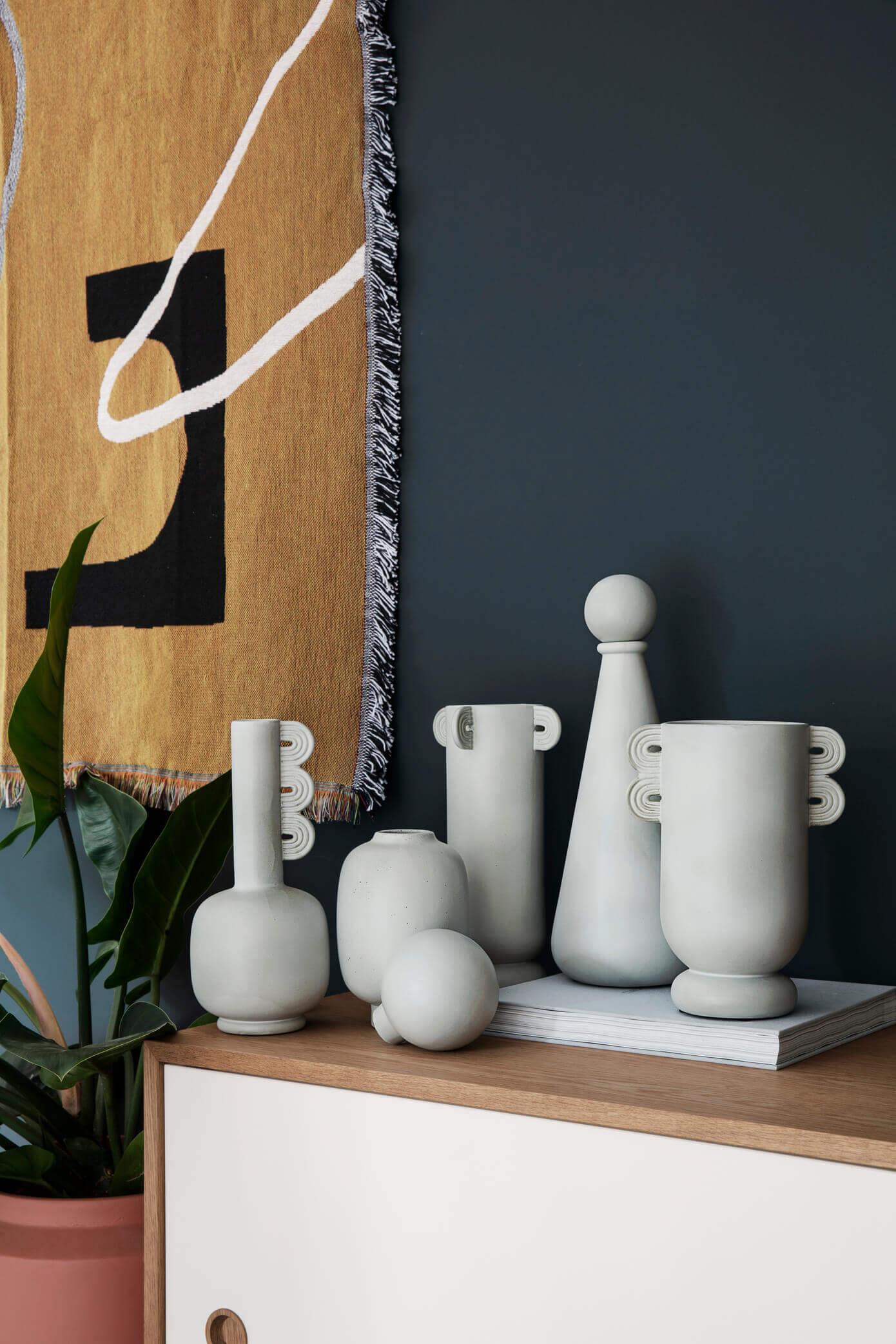 Vase blanc design