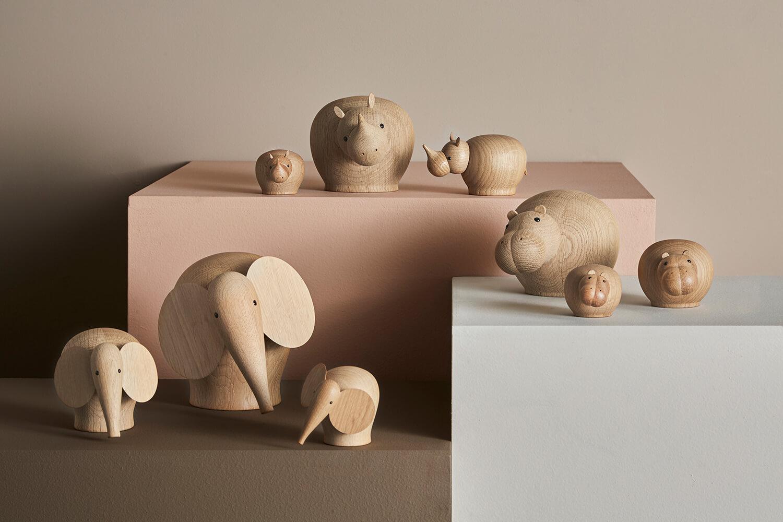 Figurine en bois scandinave