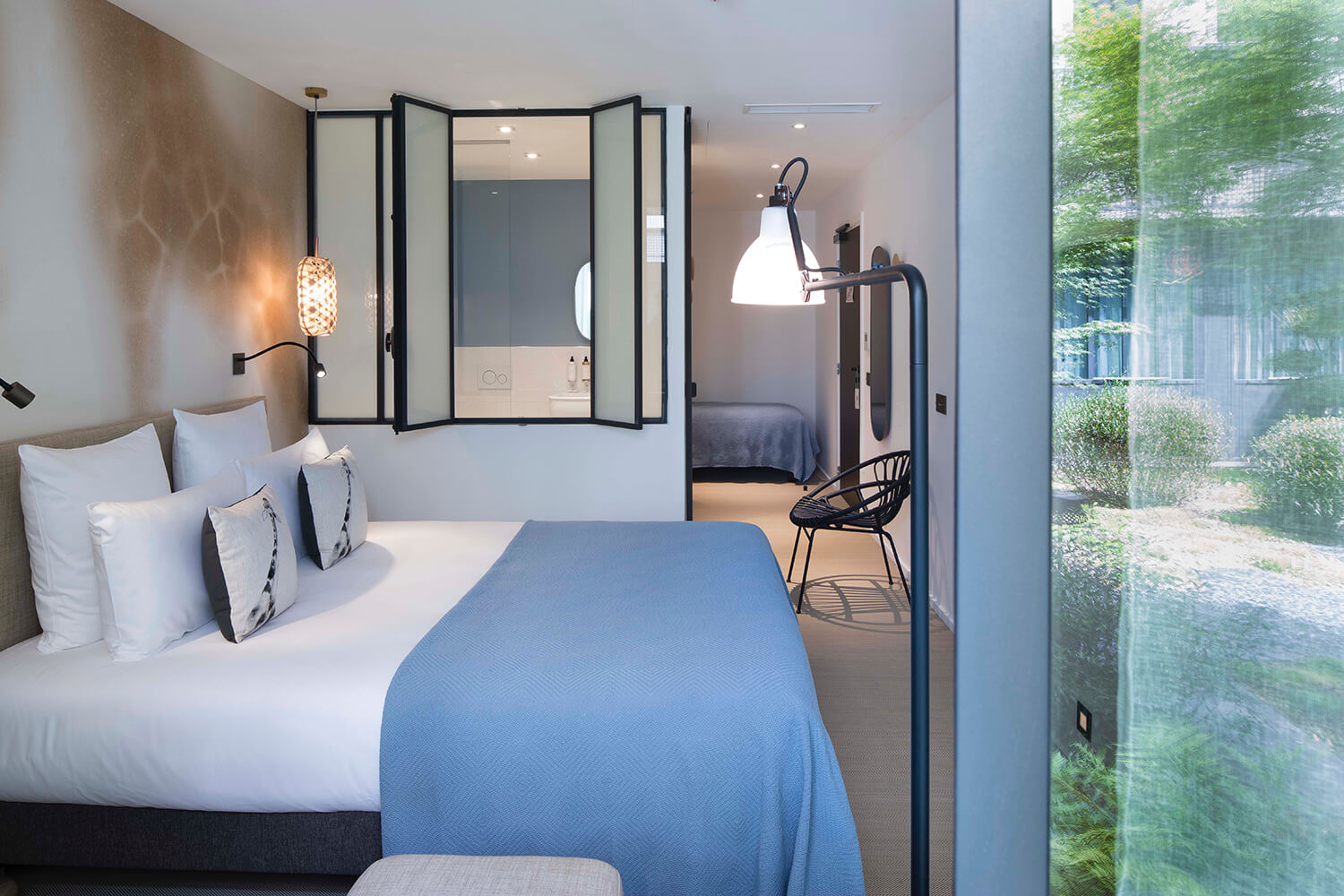 Les deux girafes un h tel chic et contemporain paris for Hotel contemporain paris