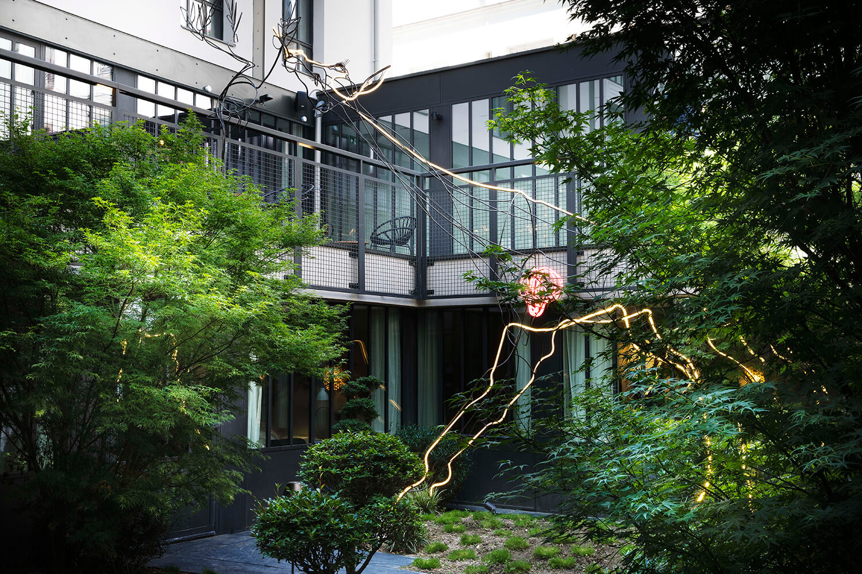 Hôtel avec patio à paris