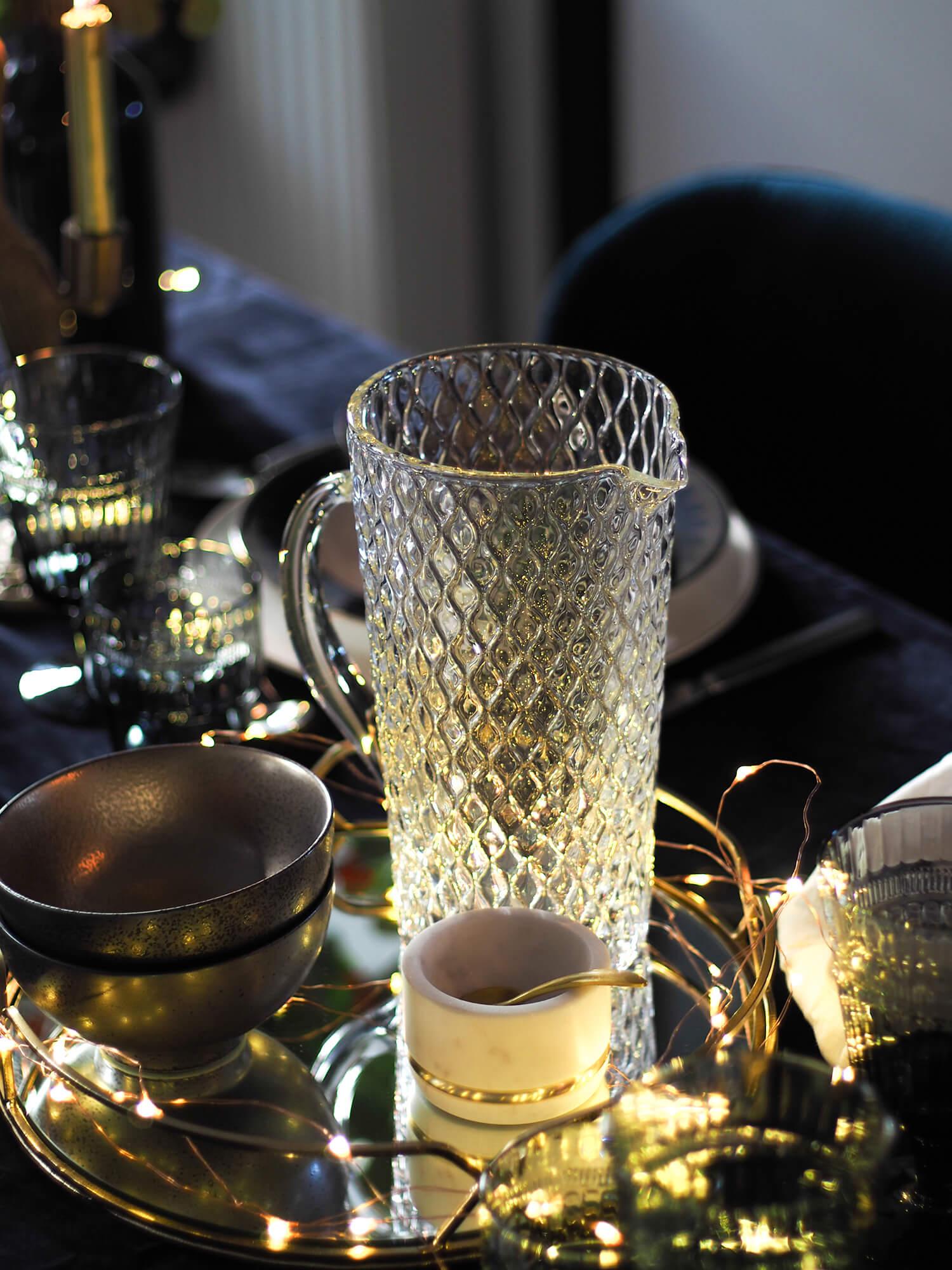 Carafe en verre style vintage