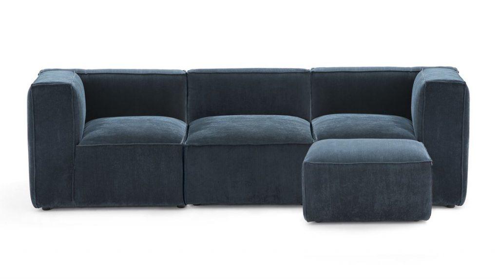 Canapé Seven en velours bleu nuit par La Redoute intérieur