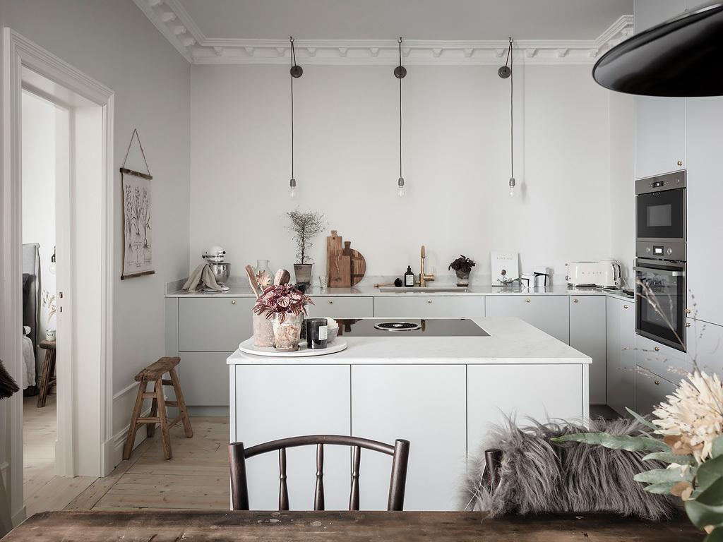 Une cuisine minimaliste avec îlot - FrenchyFancy