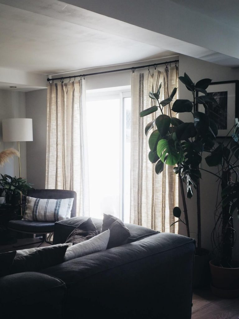 Mes nouveaux rideaux en tissu Élitis