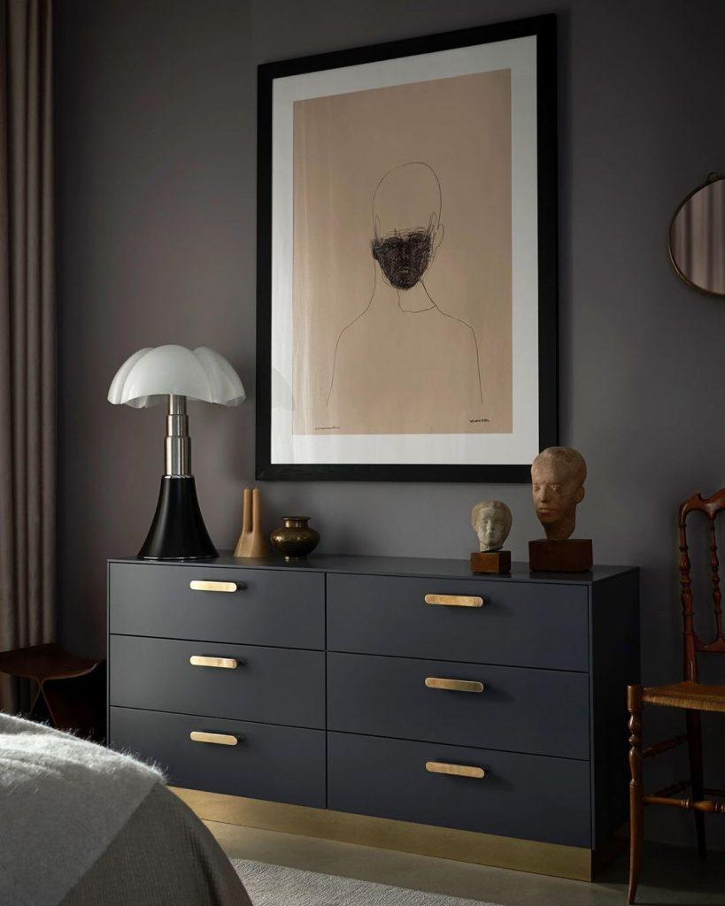 Lampe Pipistrello noir déco chambre