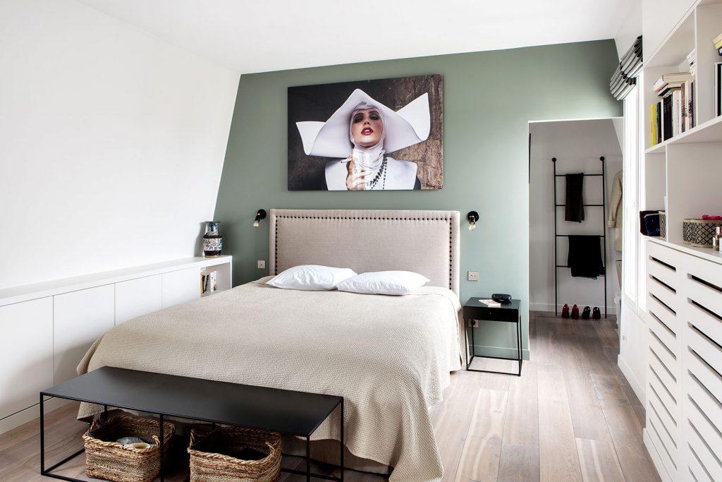 Décoration chambre verte