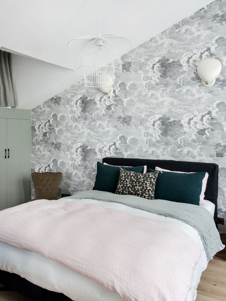 Décoration chambre papier peint nuage