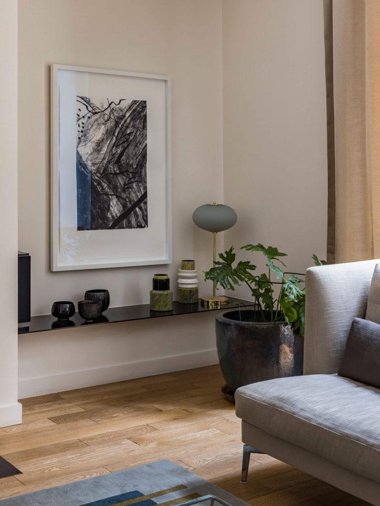 Déco style arty dans une maison parisienne