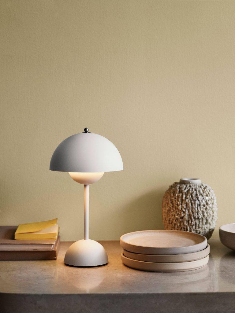 Les luminaires &tradition : la lampe FlowerPot blanc mat