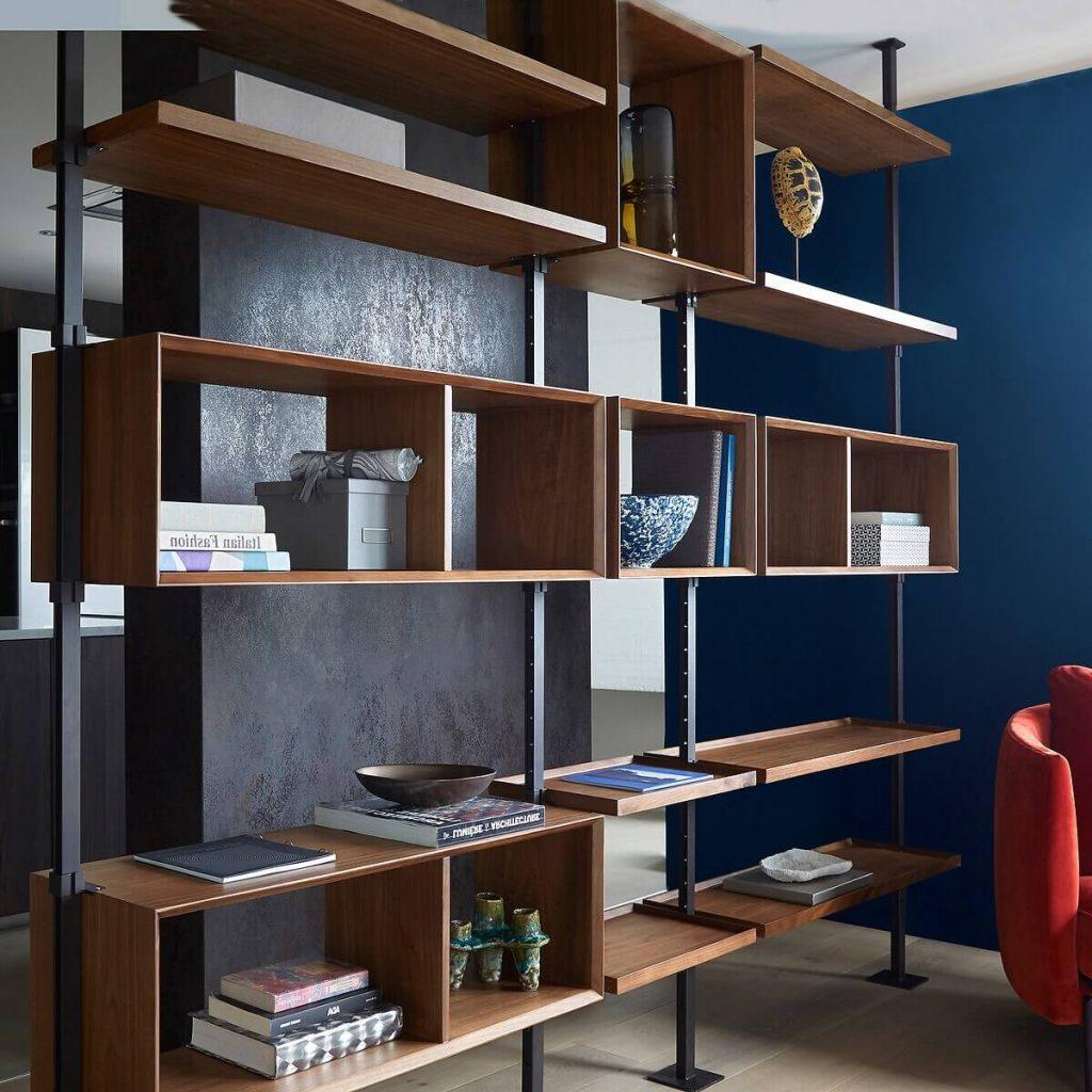 Bibliothèque modulable Tobkins dans le salon