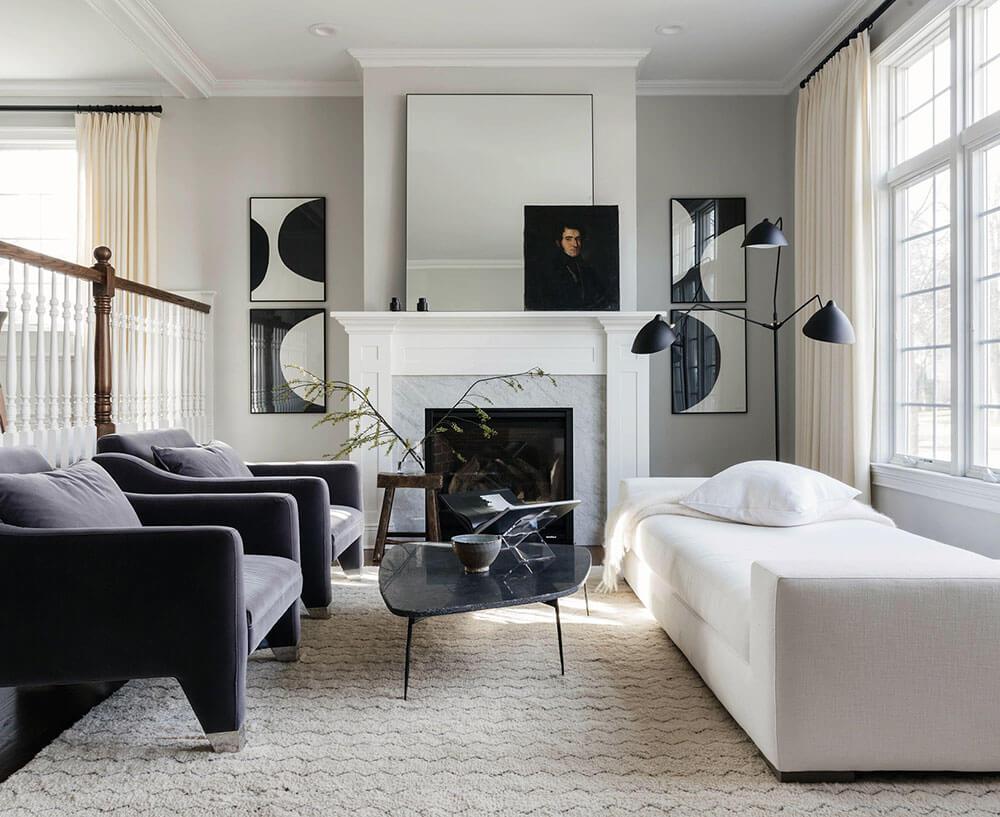 Décorer un salon en noir & blanc