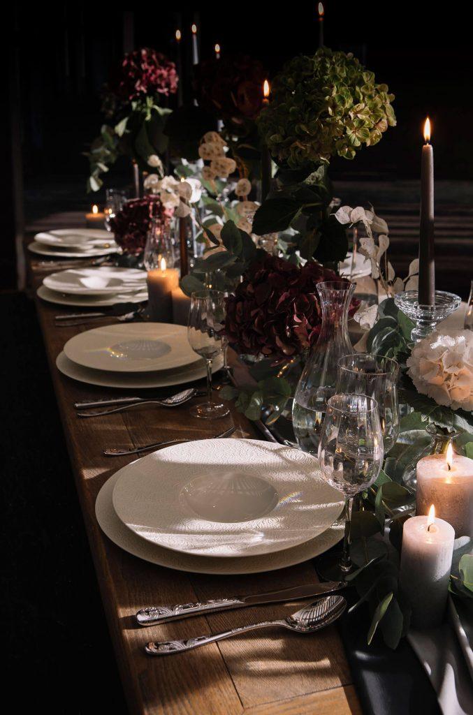 Table de Noël style baroque